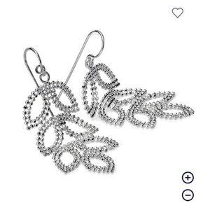 Leaf Chandelier Earrings in Sterling Silver
